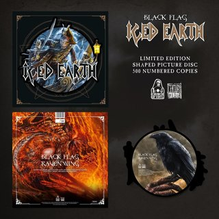 Iced Earth - Black Flag (Shaped Picture Disc)